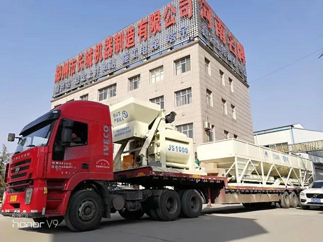 郑州长城建机发货装车现场